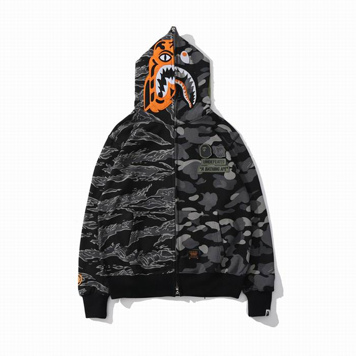 BAPE Grey Camo Tiger and Shark Hoodie