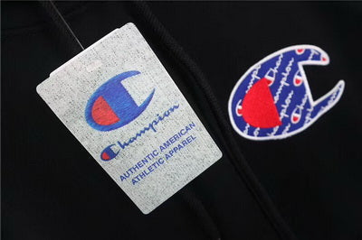CHAMPION B&W Logo Hoodies