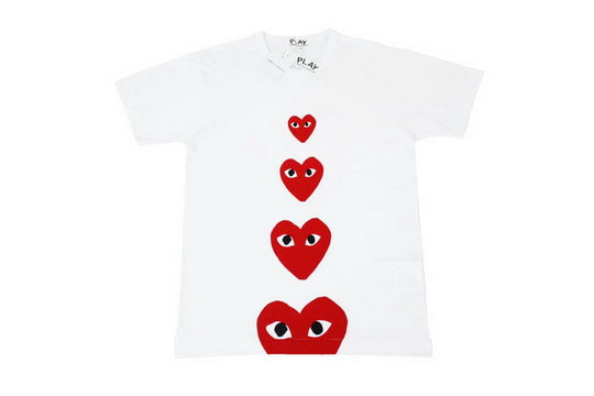 PLAY Four Hearts Tee White