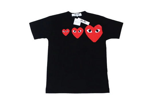 PLAY Three Hearts Tee Black