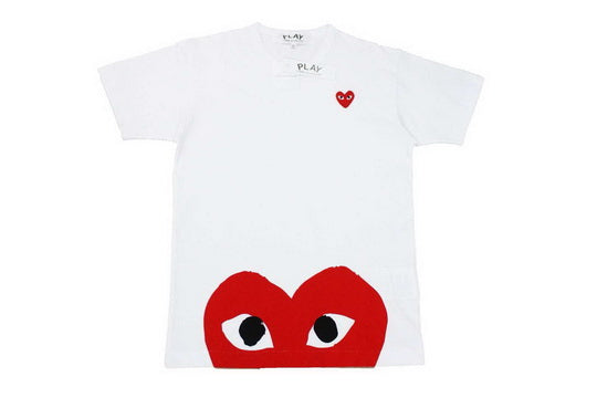 PLAY Oversized Heart Tee White