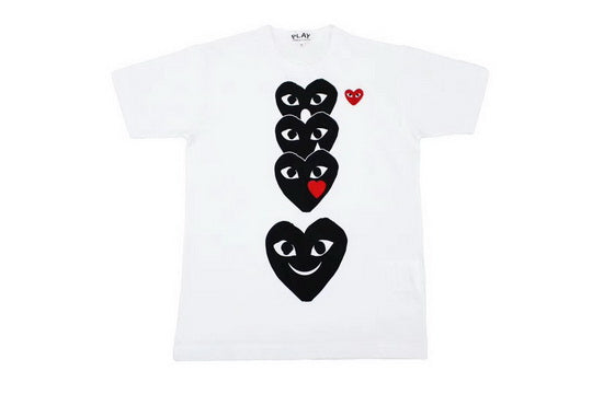 PLAY 4 Black Night Tee White