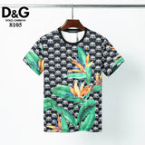 D&G T Shirt Black Crown and Flowers Print