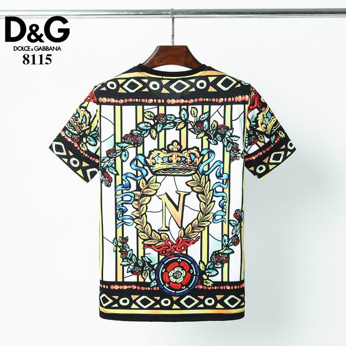 D&G T Shirt Crown and Florals Print