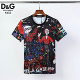 D&G T Shirt Party Print
