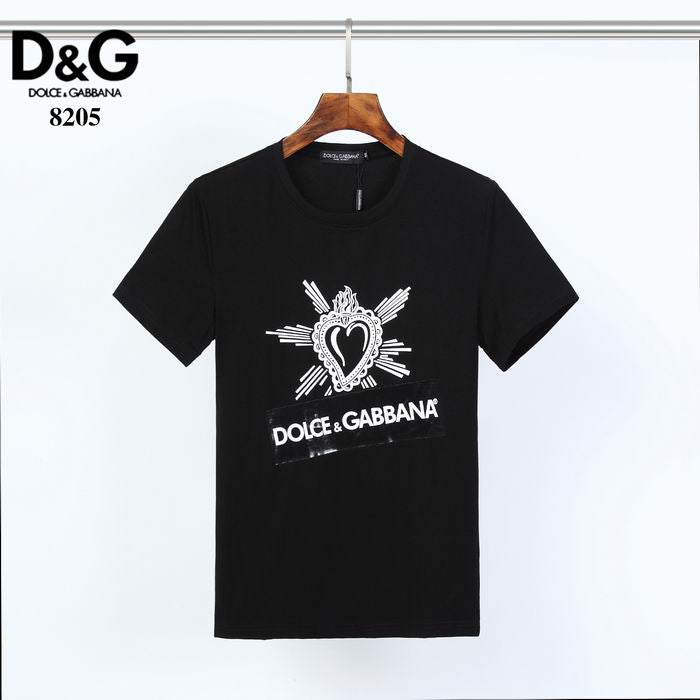 D&G T Shirt Heart Taped Logo Print