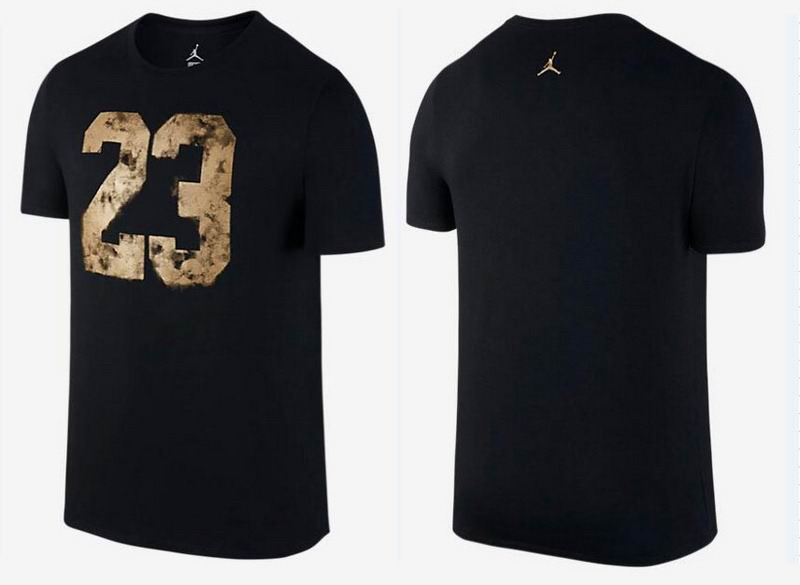 Jordan 23 Gold Print T-Shirt Black