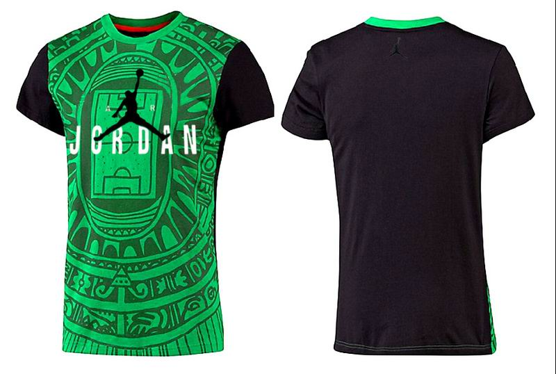 Jordan T shirt Man Dark Green Aztec Print