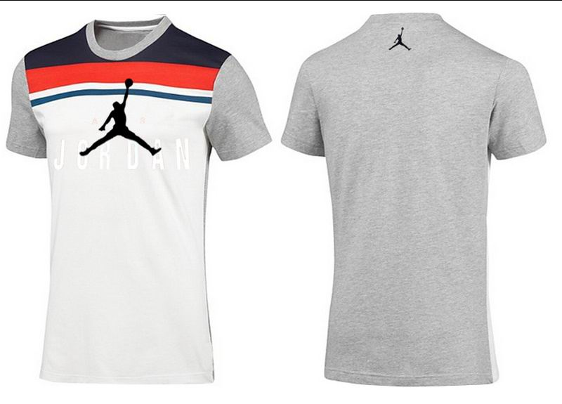Jordan T shirt Man Light Gray Stripe Print
