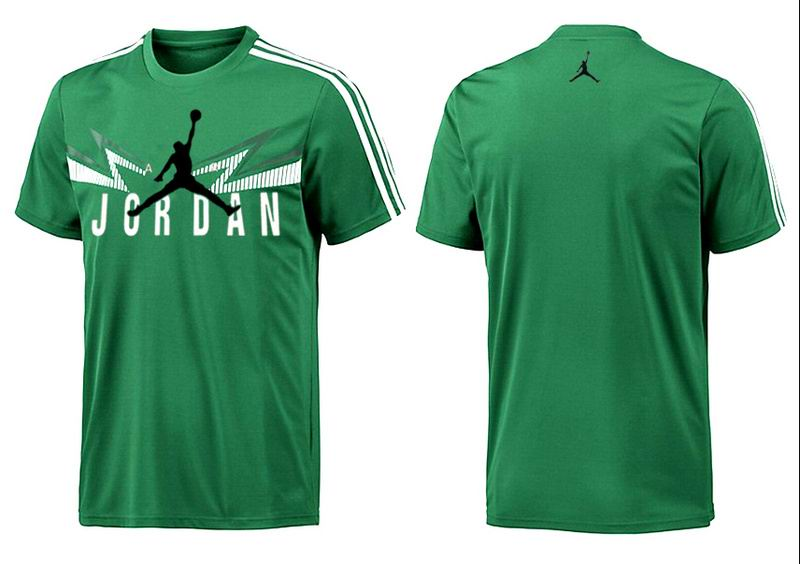Jordan T shirt Man Sea Green Lightning Print
