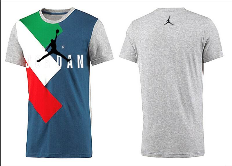 Jordan T shirt Man Gray Colorful Print