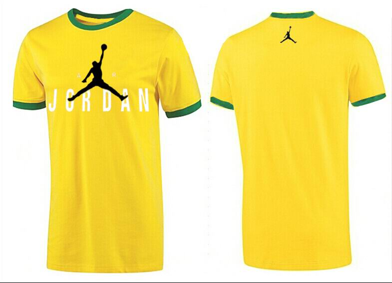 Jordan T shirt Man Yellow Ringer Tee