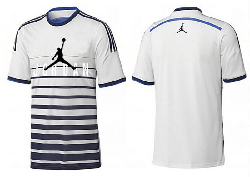 Jordan T shirt Man White Stripe Center Logo Print