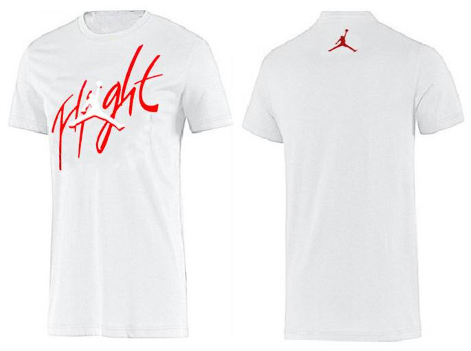 Jordan T shirt Man White Flight Print