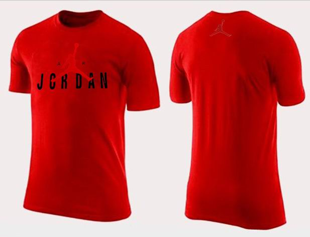Jordan T shirt Man Red Center Logo Print