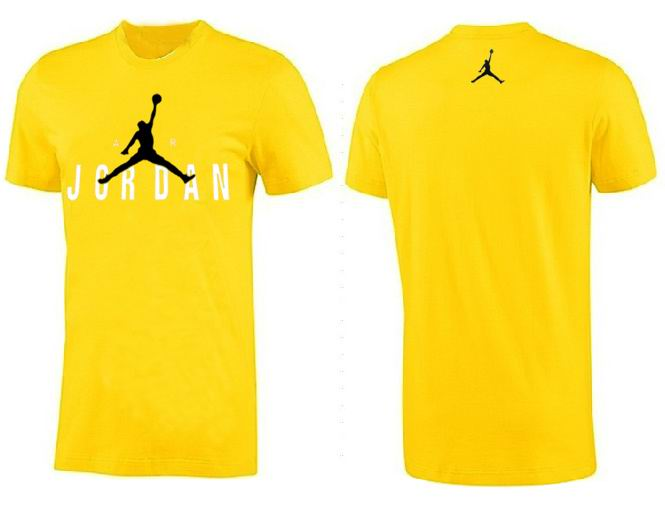 Jordan T shirt Man Yellow White Logo Print