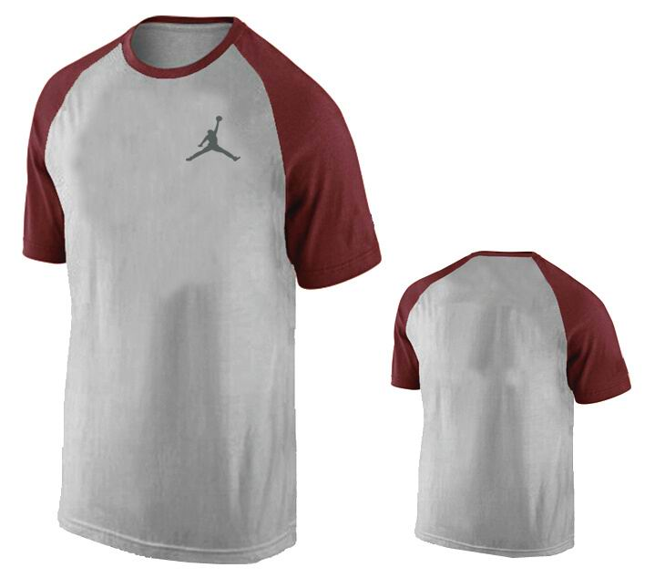 Jordan T shirt Man Maroon Sleeve with Logo
