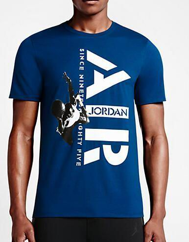 Jordan Mighty Five Print T-Shirt Dark Blue