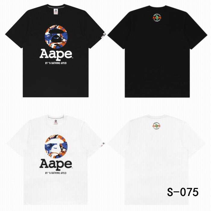 AAPE Ape Man Logo Camo T-Shirt Black/White