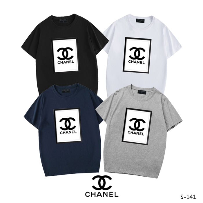 CHANEL square logo center T-shirT