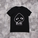 PLAY Flipped Heart Tee Black