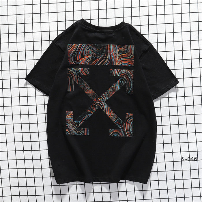 OFF-WHITE Line Wave Tees