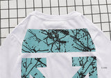 OFF-WHITE Crack Light Sea Green Paint Tees