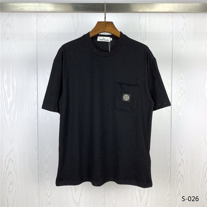 Stone Island Pocket T-shirt Black/White