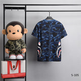 BAPE Split Shark Camo Tees