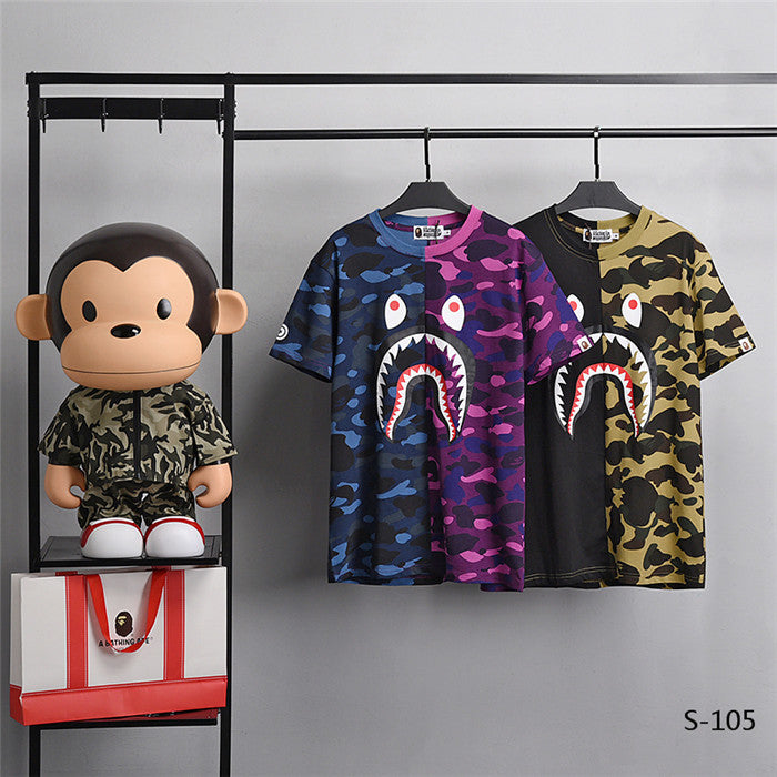 BAPE Duo Color Camo Shark Tees