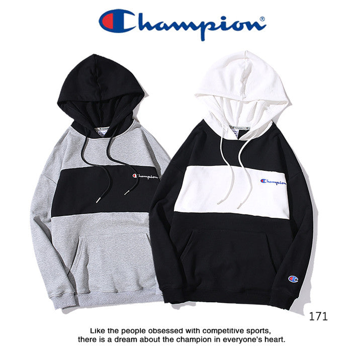 CHAMPION Plain B&W Hoodies