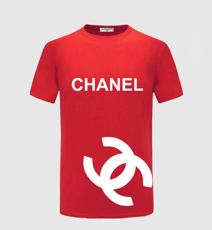 CHANEL RED SHIRT WHITE LOGO PRINT