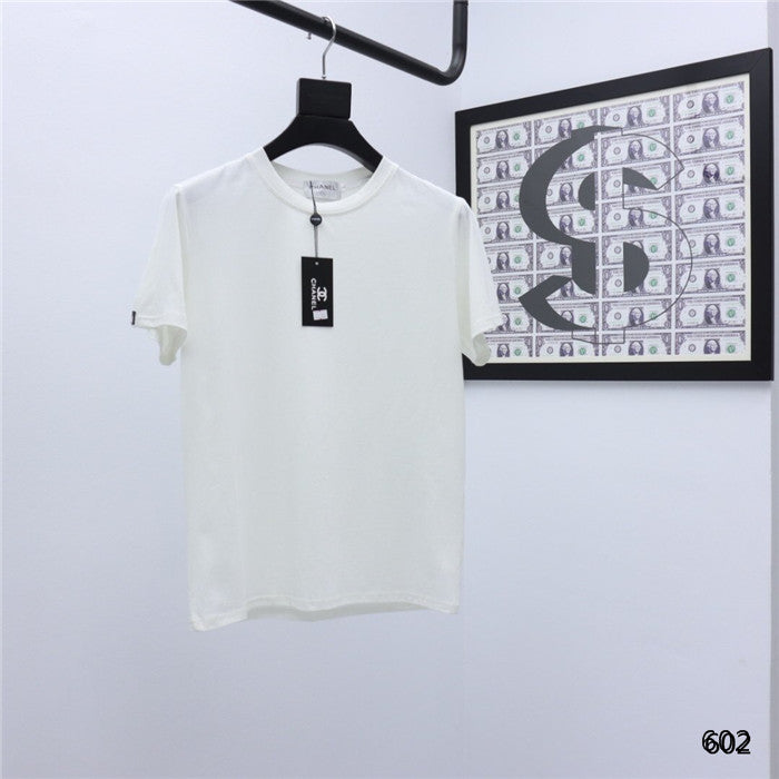 CHANEL plain white T-shirt