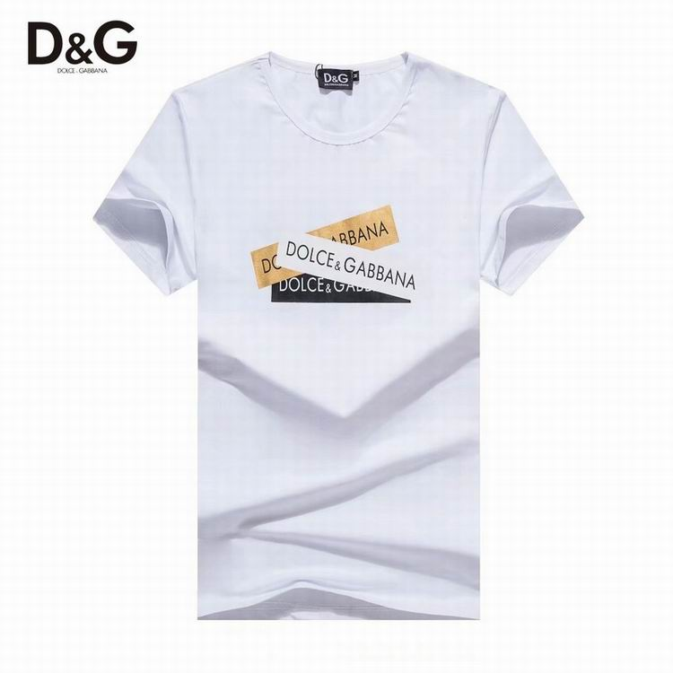 D&G T Shirt White Tape Logo Print