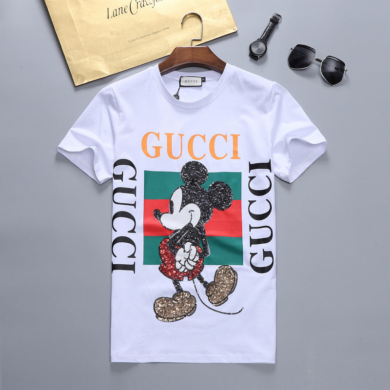 GUCCI MICKEY MOUSE SEQUENCE PRINT WHITE T-SHIRT