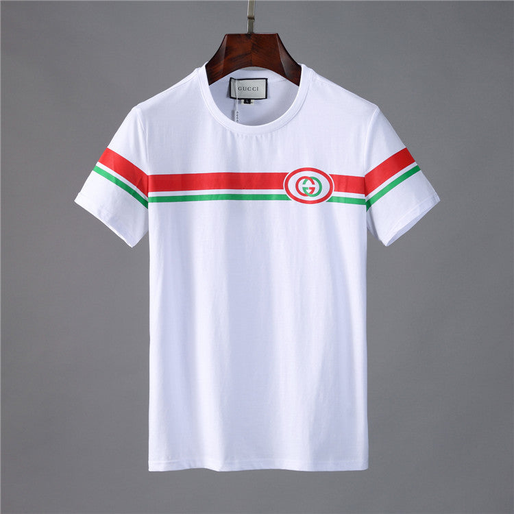 GUCCI SHOULDER PRINT T-SHIRT WHITE