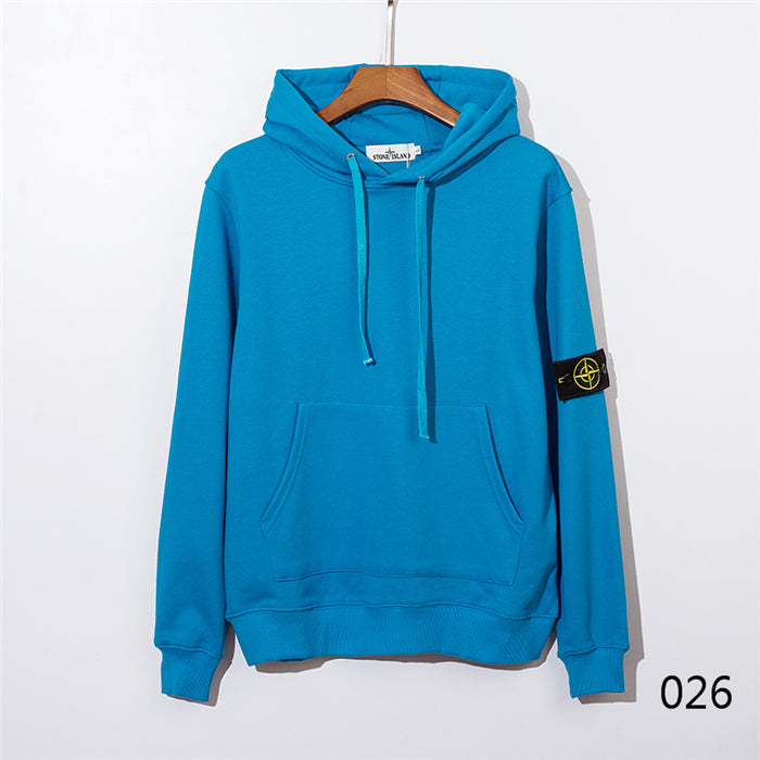 Stone Island Vibrant Color Pullover Hoodies
