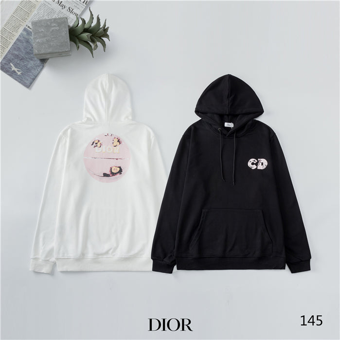 Black and White Basic Dior Hoodies