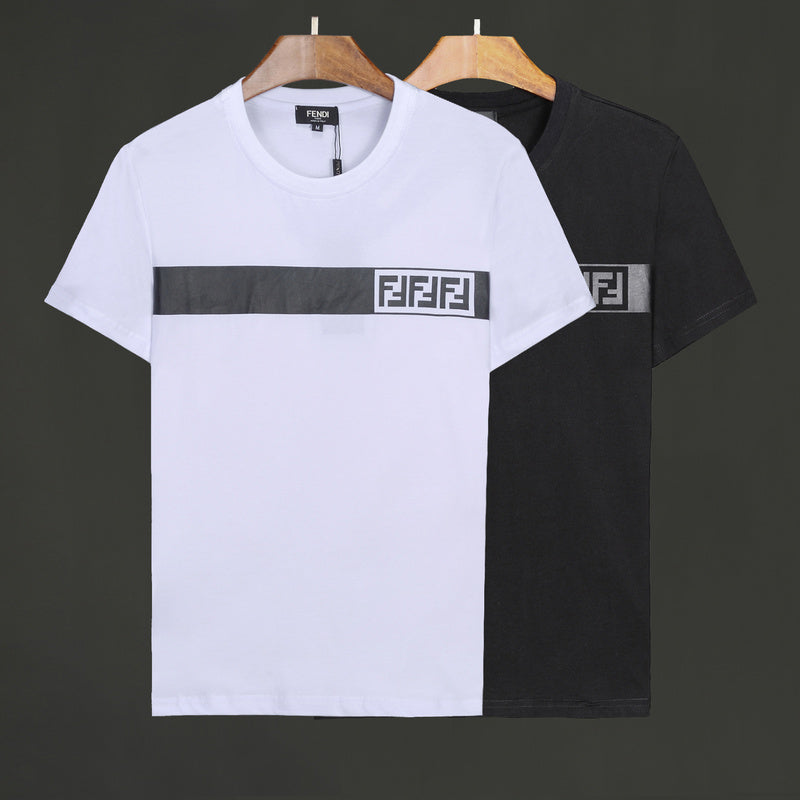 Gray Strip Triple FF Logo Fendi Shirt
