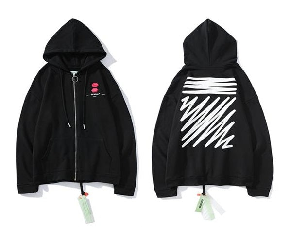 OFF-WHITE Square Scribble Hoodie Black