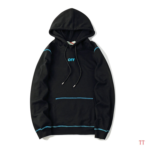 OFF-WHITE Deep Sky Blue Checkered Hoodie