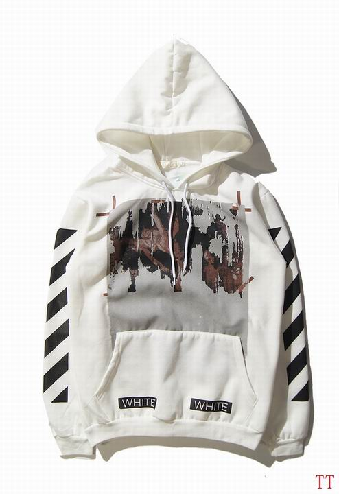 OFF-WHITE Graphic Print Hoodie White