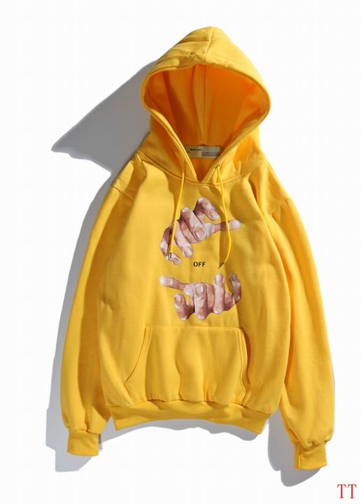OFF-WHITE Off Hands Hoodie Yellow