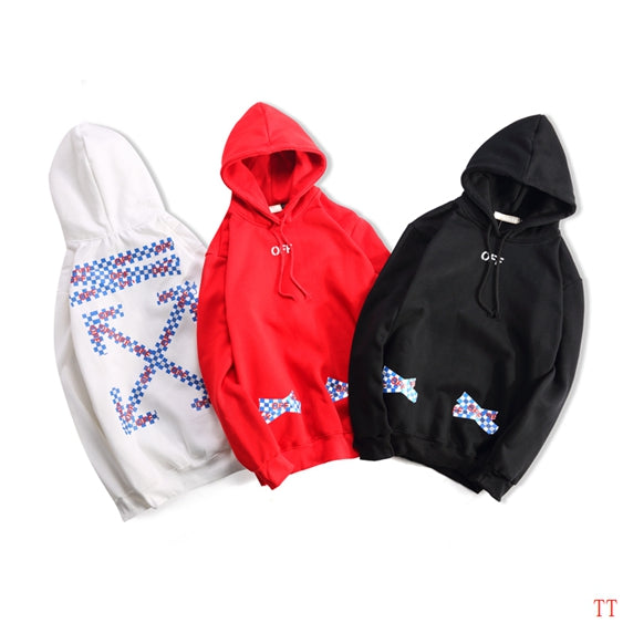 OFF-WHITE Checkered Pascal Cross Hoodie