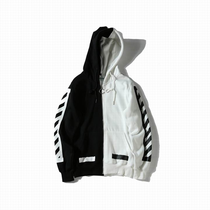 OFF-WHITE Splice Black N White Hoodie