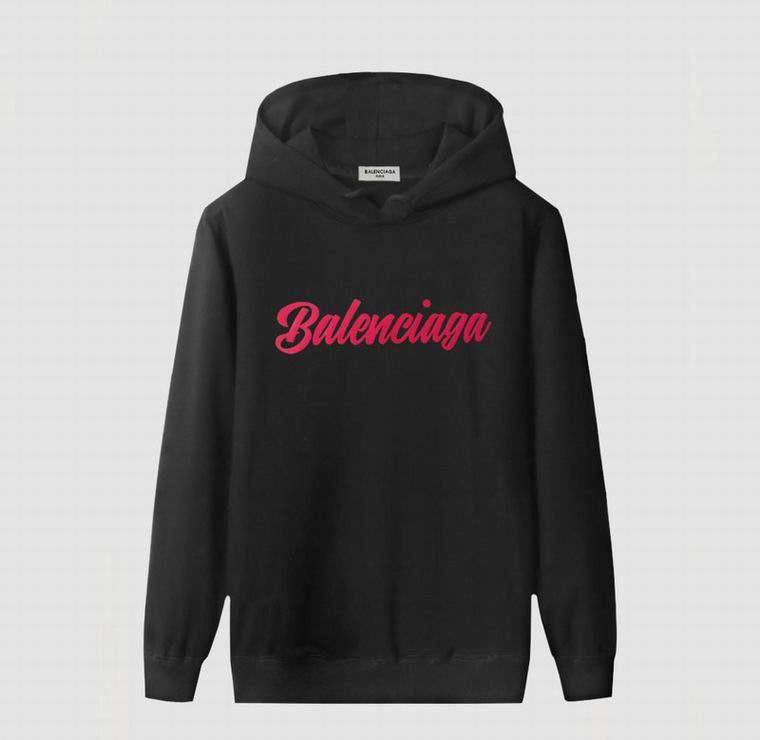 Black Hoodie with Red Balenciaga Print