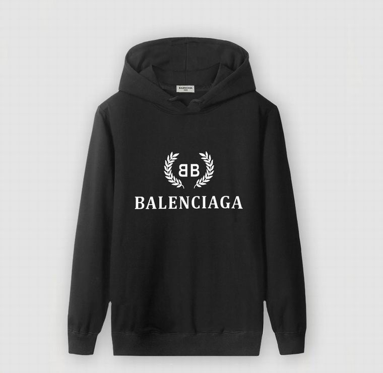 Black With White Logo Print Balenciaga Hoodie