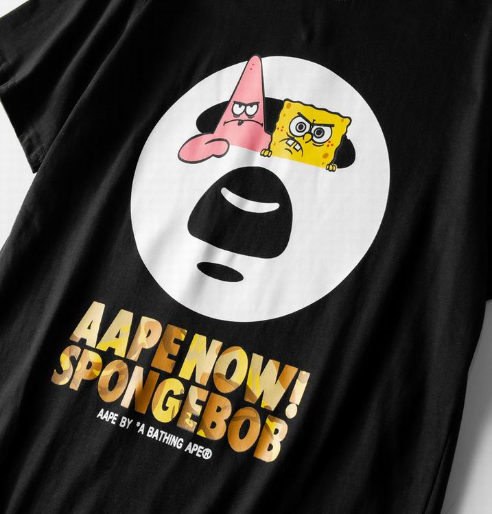AAPE Now Spongebob Tee Black