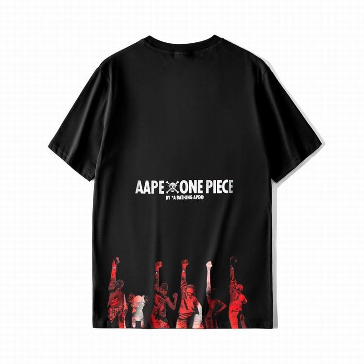 AAPE One Piece Red Camo Tee Black