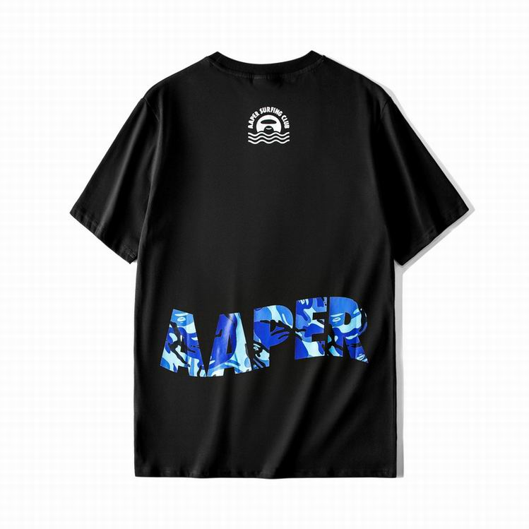 AAPER Surfing Club Logo Tee Black